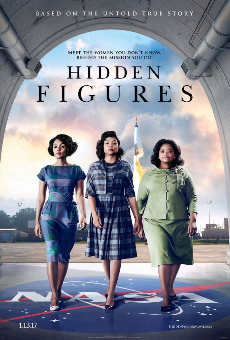 Janelle Monae, Taraji P Henson and Octavia Spencer on Hidden Figures poster