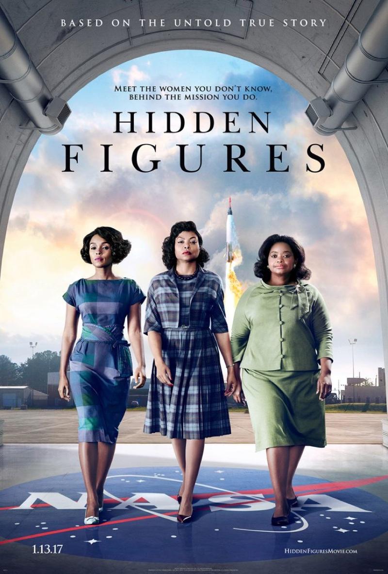 Janelle Monae, Taraji P Henson and Octavia Spencer on Hidden Figures poster