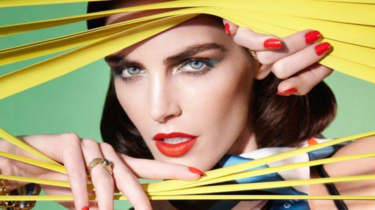 Hilary Rhoda Serves Movie Star Glamour in Vogue Taiwan