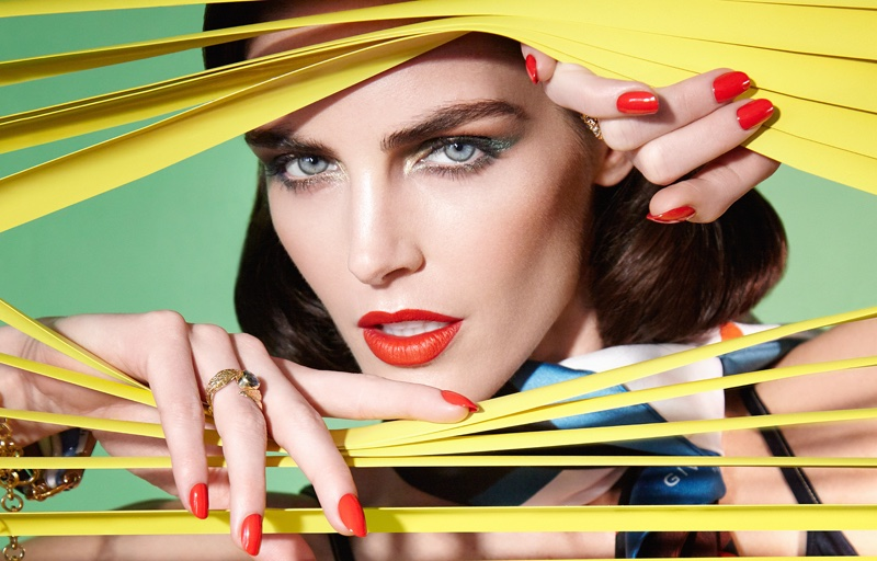 Hilary Rhoda Serves Movie Star Glamour in Vogue Taiwan