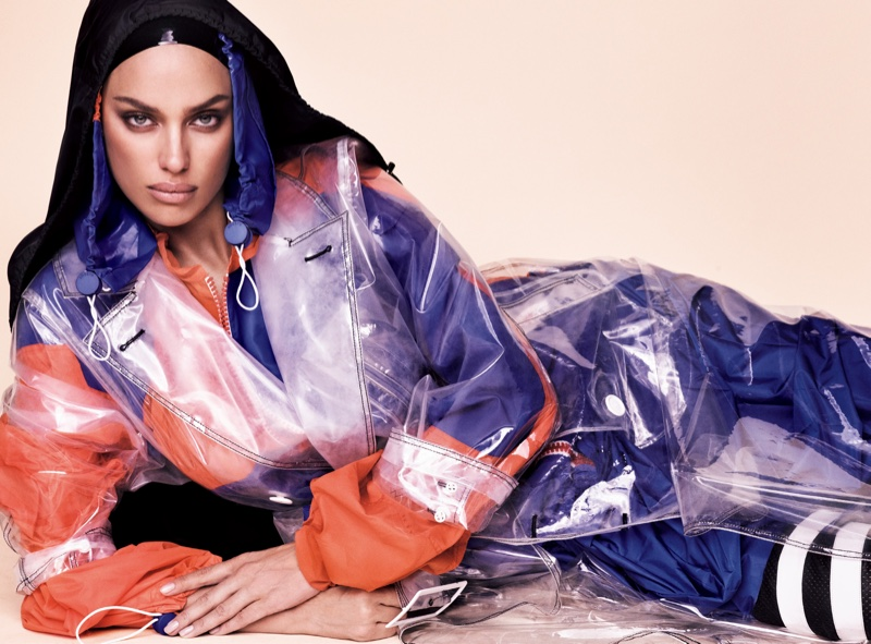 Irina Shayk wears sporty looks for the fashion editorial