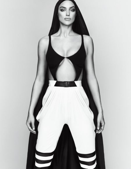 Irina Shayk Models Elevated Sporty Looks for Vogue Japan