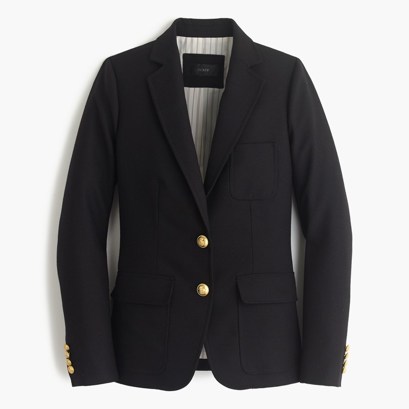 A classic black blazer from J. Crew will take your outfit to the next level