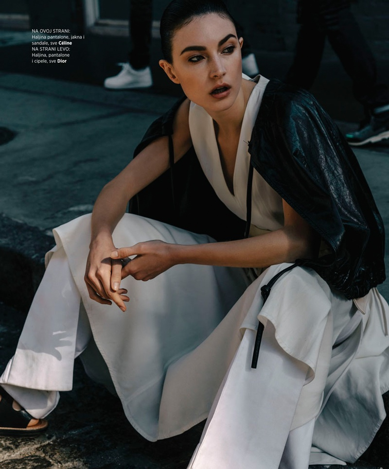 Jacquelyn Jablonski Covers Up in Winter Outerwear for BAZAAR Serbia