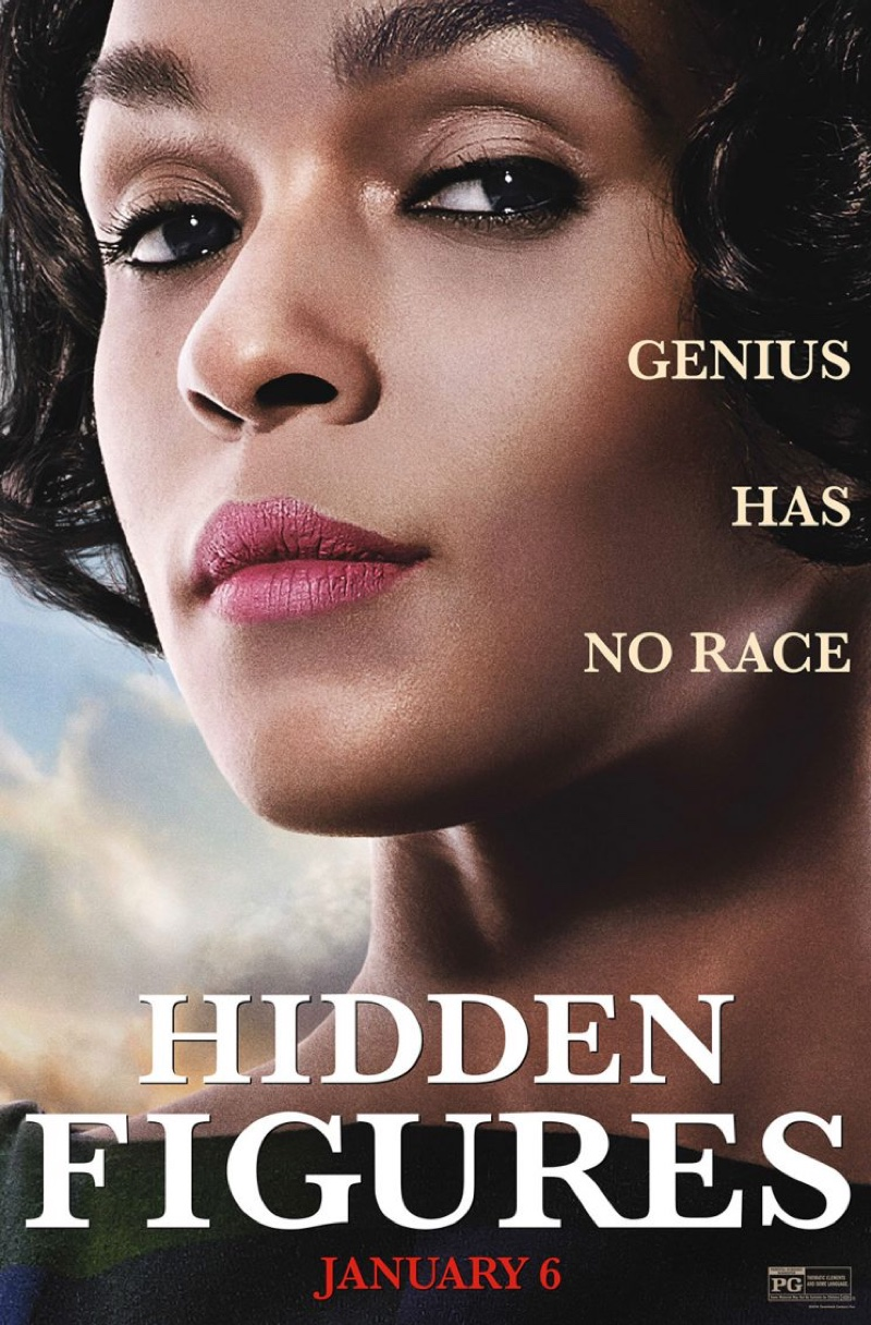 Janelle Monae on Hidden Figures movie poster