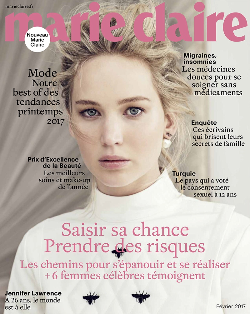 Jennifer Lawrence on Marie Claire France February 2017 Cover