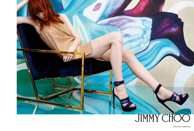 Jimmy Choo Kathleen 130 Navy Mix Suede and Mirror Leather Platform Sandals