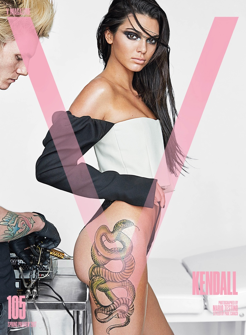 Kendall Jenner on V Magazine Spring Preview 2017 Cover