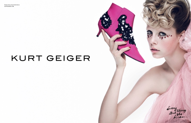 Edie Campbell stars in Kurt Geiger's spring-summer 2017 campaign