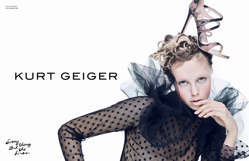 An image from Kurt Geiger's spring 2017 campaign
