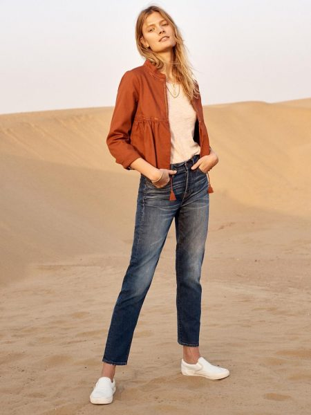 Constance Jablonski is Ready for Spring in Madewell's Latest Styles