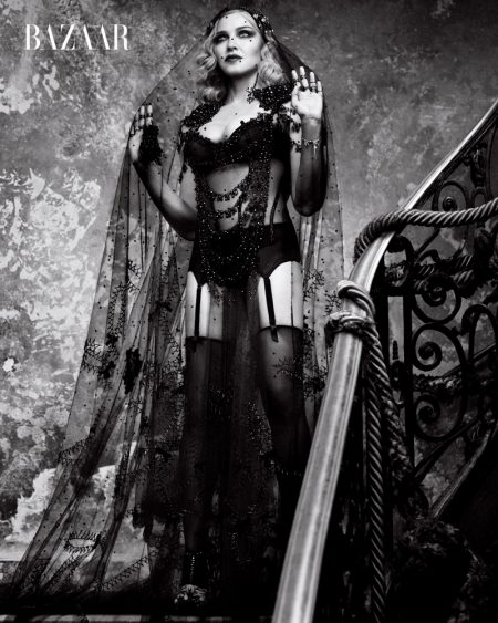 Madonna Wears Racy Lingerie Looks for Harper's Bazaar Cover Shoot