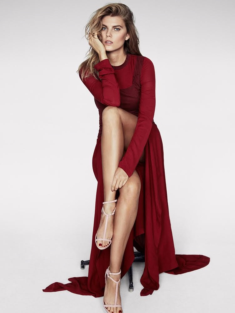 Maryna linchuk has us seeing red in telva cover story for Best women pictures