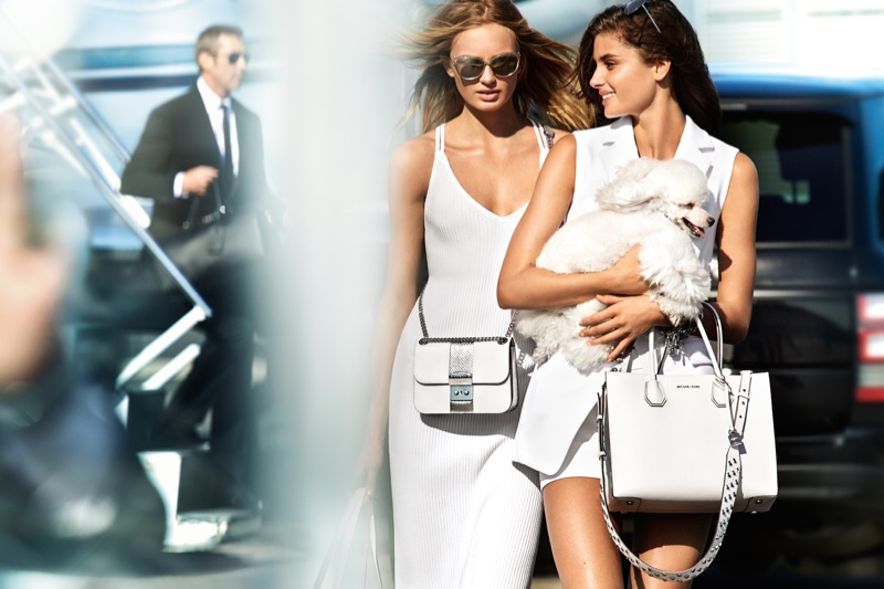 Taylor Hill & Romee Strijd Are Jet Setters in MICHAEL Michael Kors Spring 2017 Campaign