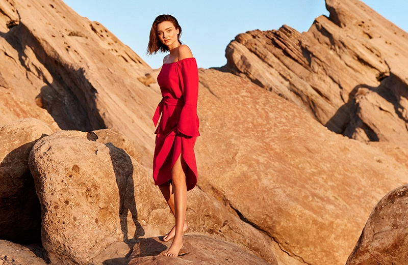 Miranda Kerr Heads to the Desert for Marella's Spring 2017 Campaign