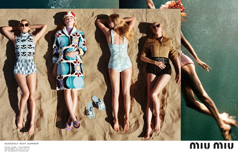 Miu Miu Heads to the Beach for Spring 2017 Campaign