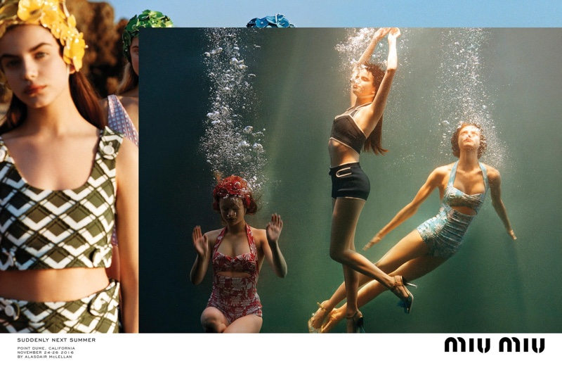 237319ccf884 Miu Miu features swimsuit styles in spring 2017 campaign