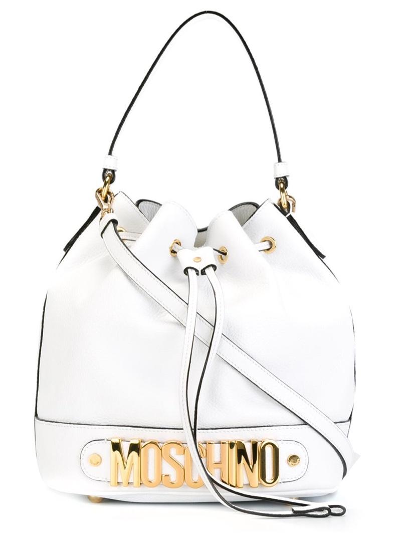 Moschino Logo Bucket Tote Bag