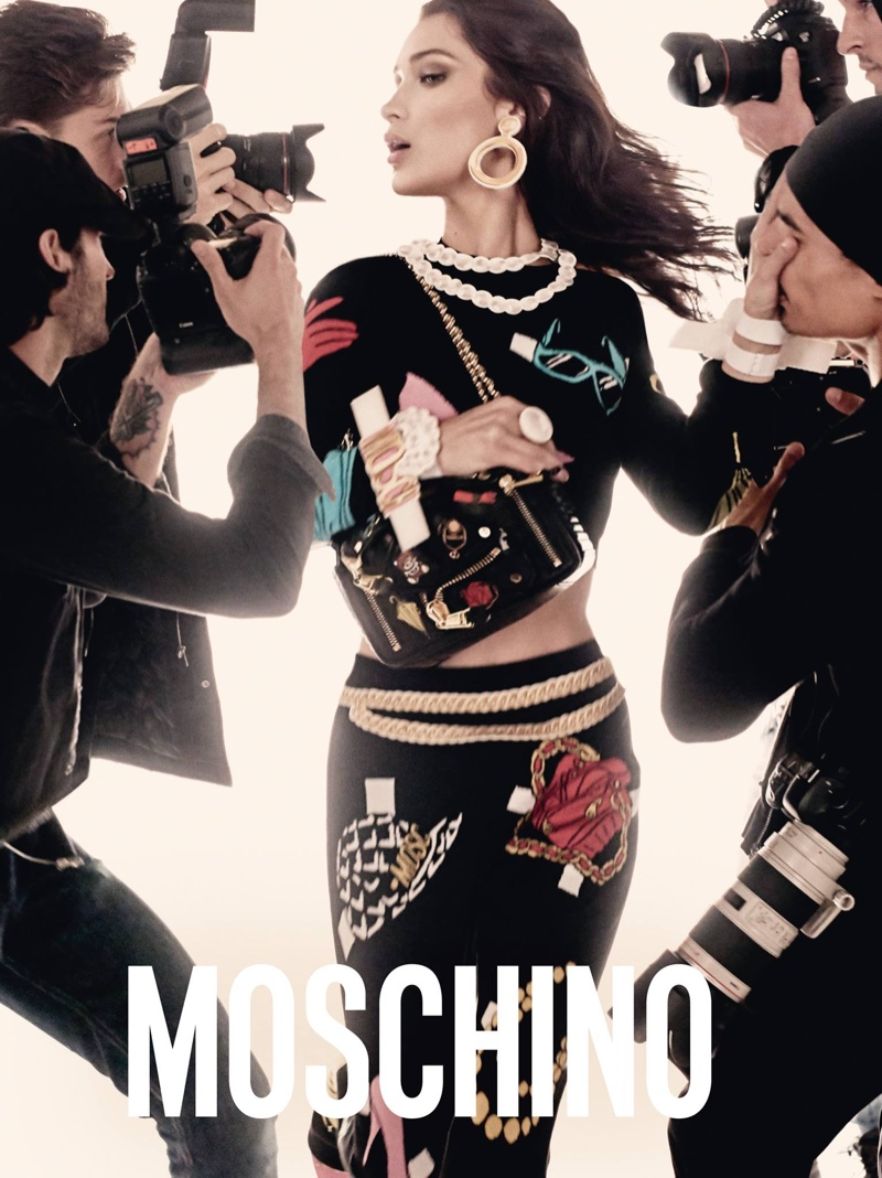 Bella Hadid stars in Moschino's spring-summer 2017 campaign
