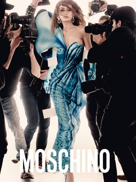 Gigi & Bella Hadid Pose for the Paparazzi in Moschino's Spring 2017 Ads