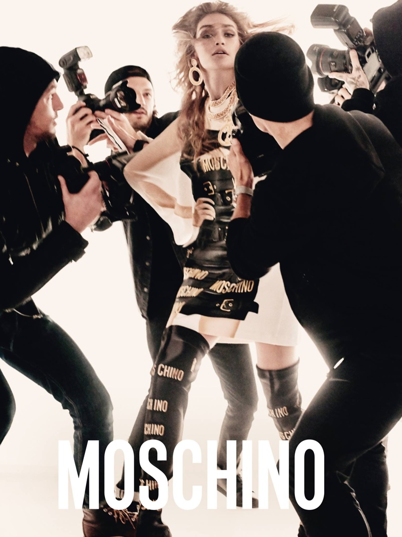 Steven Meisel photographs Gigi Hadid for Moschino's spring 2017 campaign