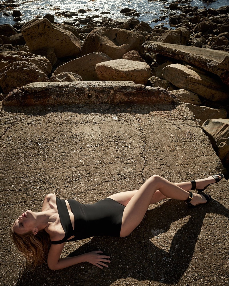 La Petite Robe di Chiara Boni Europa Off-the-Shoulder One-Piece Swimsuit