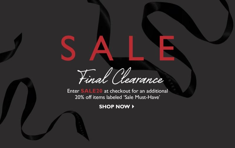 Net-a-Porter's 2017 sale enters final clearance!