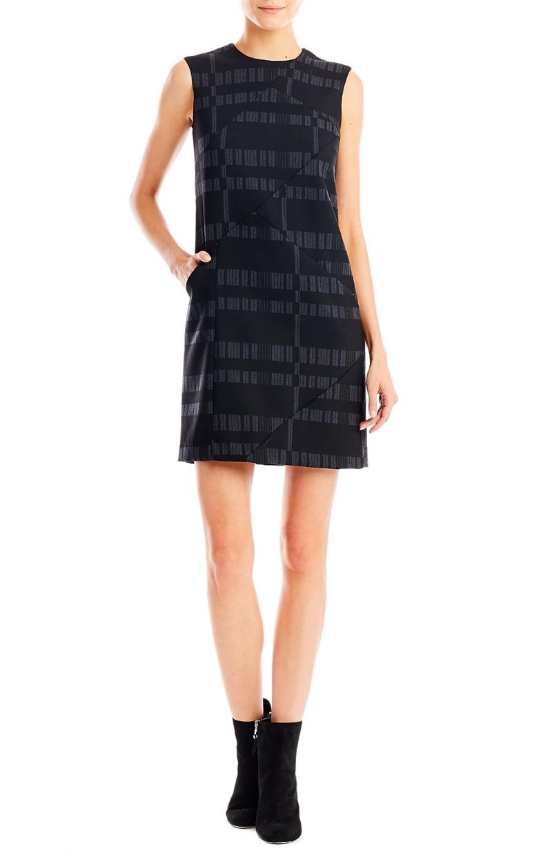 Nicole Miller Artelier Broken Stripe Shift Dress