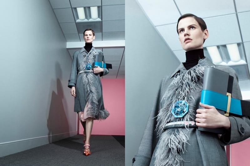 Saskia de Brauw stars in Prada's spring-summer 2017 campaign