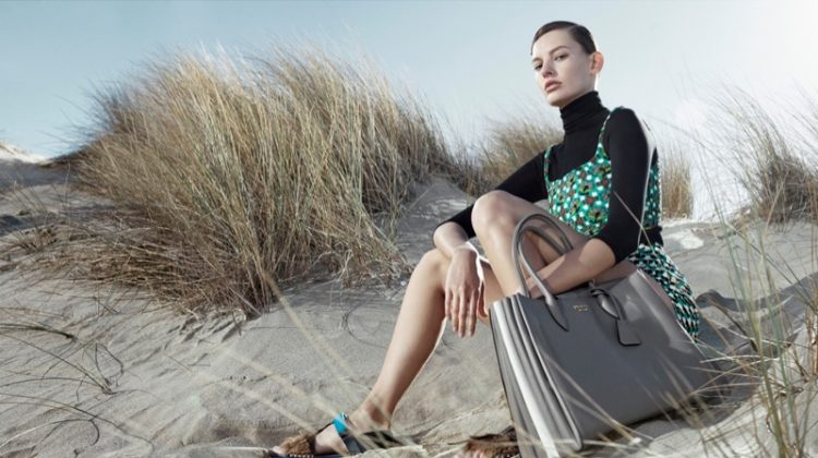 Amanda Murphy stars in Prada's spring-summer 2017 campaign