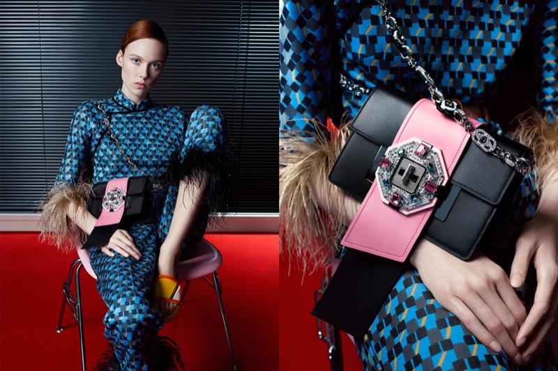 Kiki Willems stars in Prada's spring-summer 2017 campaign