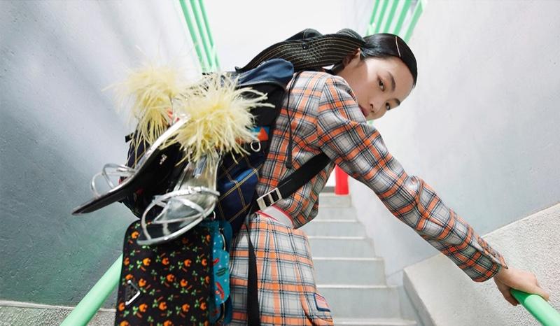 Jing Wen stars in Prada's spring-summer 2017 campaign