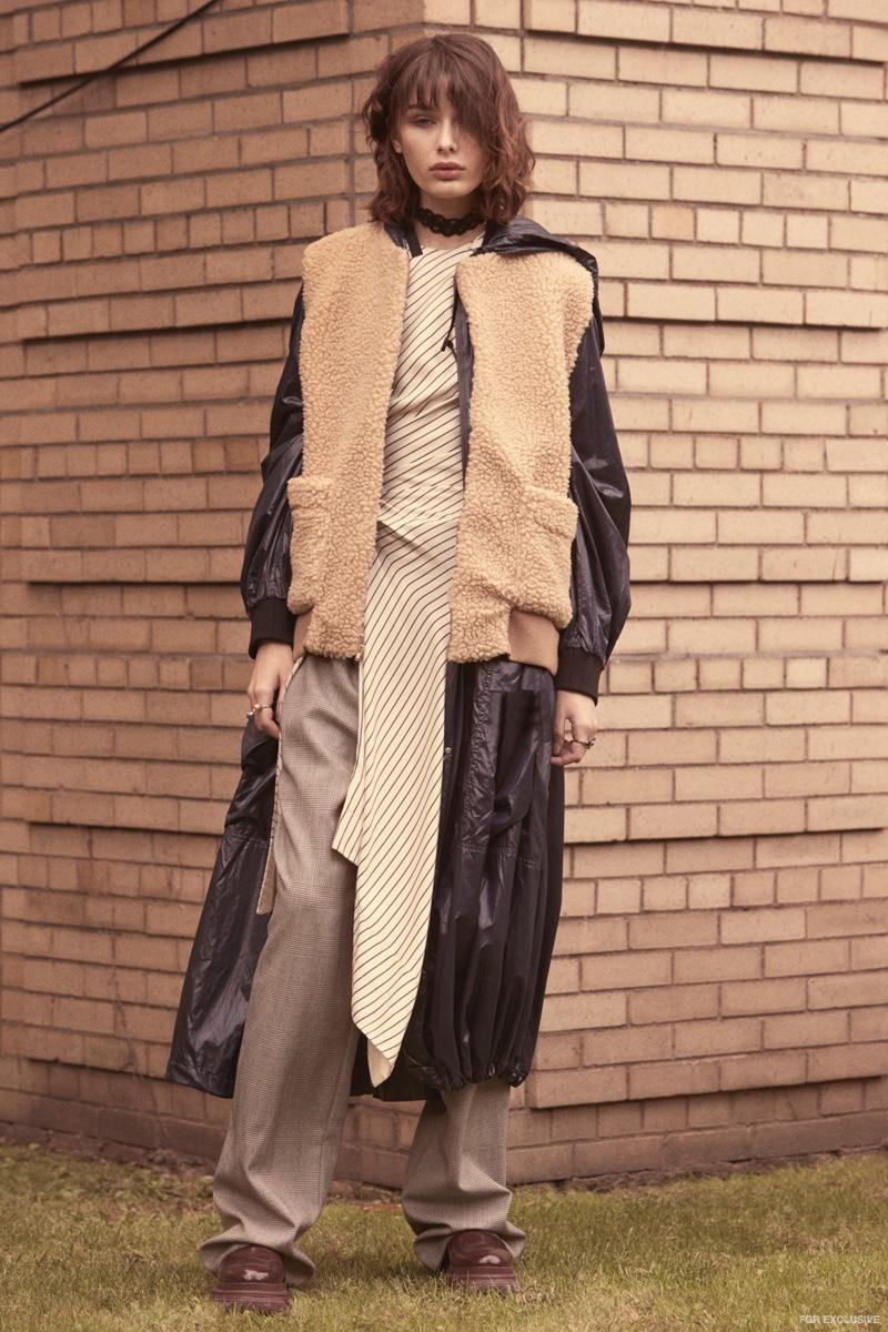 Dress Monse, Coat DKNY, Vest House of 950, Pants Linder, Shoes DKNY, Choker & Rings JOOMI LIM