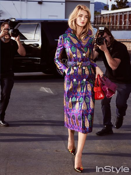 Rosie Huntington-Whiteley stars in InStyle's February issue