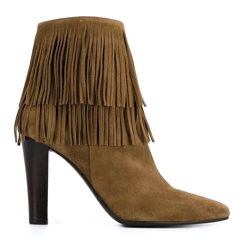 Saint Laurent Fringed Boots