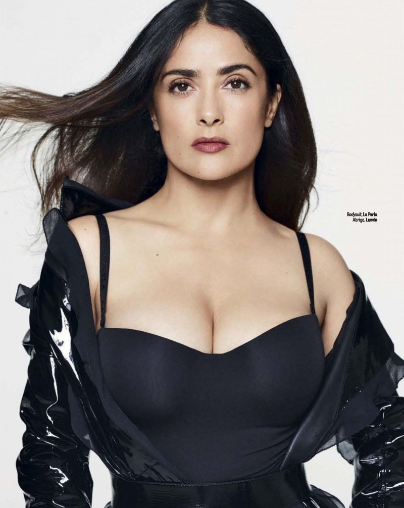 Salma Hayek Looks Smokin' Hot in Lingerie for GQ Mexico
