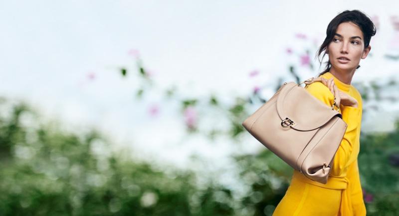 Lily Aldridge stars in Salvatore Ferragamo's spring-summer 2017 campaign
