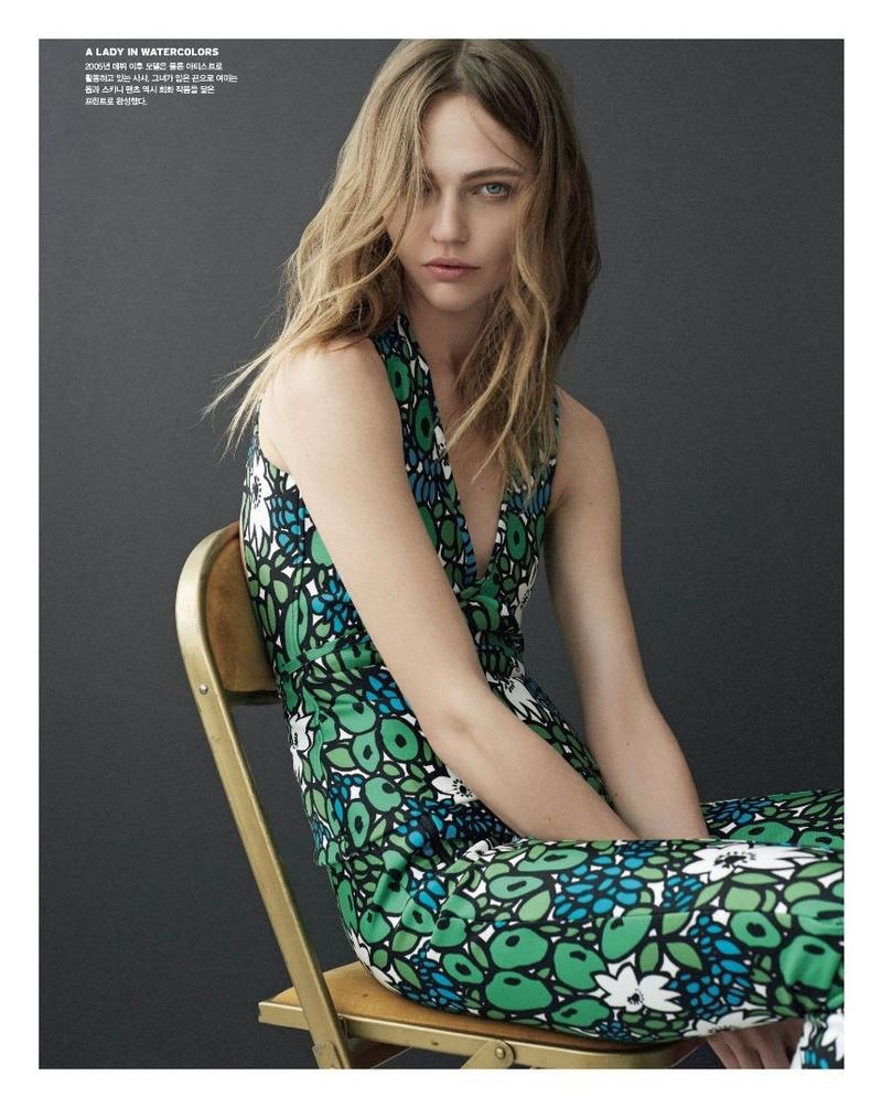 Sasha Pivovarova Poses in Balenciaga's Spring Looks for Vogue Korea