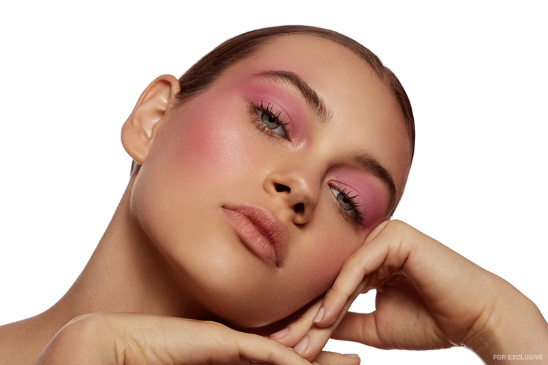 Shades of pink are embraced with rosy eyeshadow and blush. Photo: Beth Sternbaum