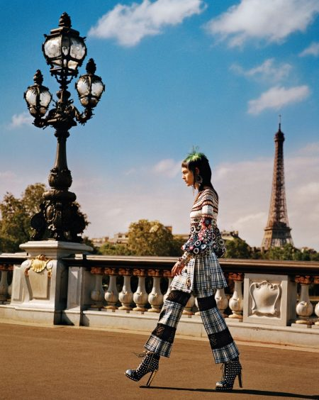 Irina Shayk & Stella Maxwell Model the Spring Collections in Paris for W Magazine