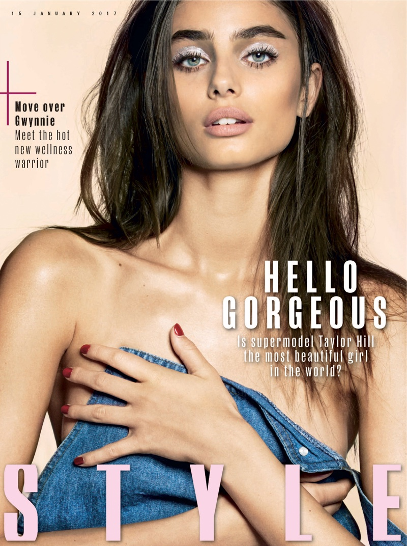 Taylor Hill on Sunday Times Style January 15, 2017 Cover