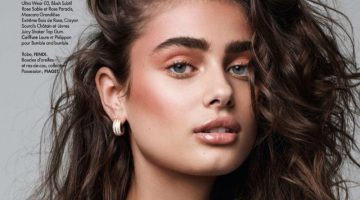Taylor Hill Poses in 1980's Inspired Style for ELLE France