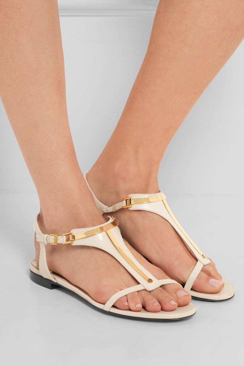 Tom Ford Embellished Leather Sandals