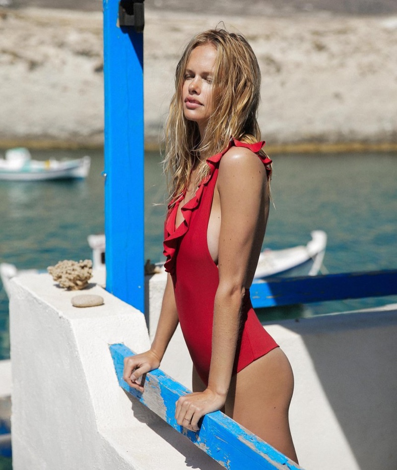 A look from Tori Praver Swimwear's resort 2017 collection