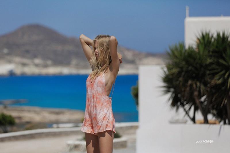 Emma Stern Nielsen models Tori Praver Swimwear Lana romper