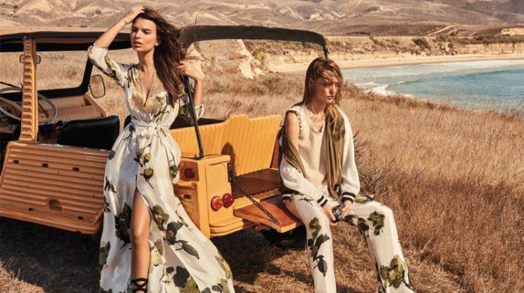 Emily Ratajkowski and Sasha Pivovarova star in Twin-Set's spring-summer 2017 campaign