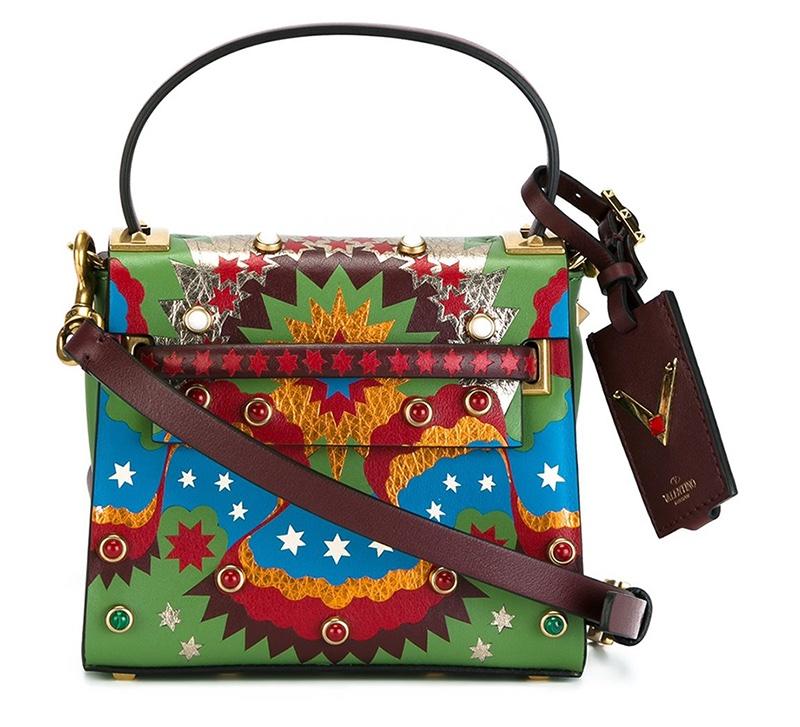 Valentino Enchanted Wonderland My Rockstud Rolling Tote Bag
