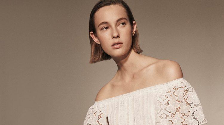 Valentino Cotton-Blend Off-the-Shoulder Maxi Dress and Rockstud Rolling Shoulder Bag