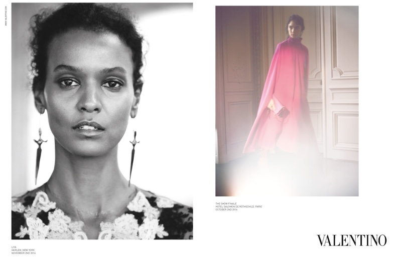 Liya Kebede stars in Valentino's spring-summer 2017 campaign