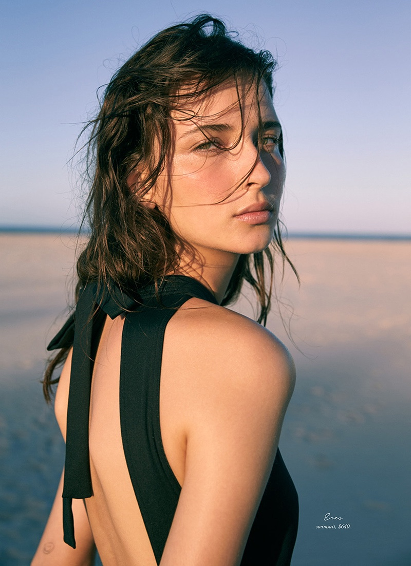 Getting her closeup, Waleska Gorczevski models Eres swimsuit